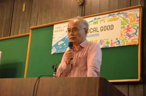 LOCAL GOOD YOKOHAMAクラウドファンディング第1弾にチャレンジするNPO法人「五つのパン」理事の岩永敏朗さん。